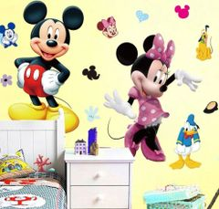 3D MICKEY MINNIE WALL DECAL
