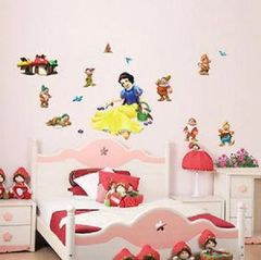 SNOW WHITE SEVEN DWARFS WALL DECAL