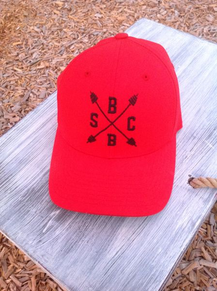 SBB Crew Logo Red Fitted Hat