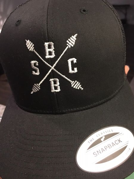 SBB Crew Logo Trucker Hat Black/Black Mesh