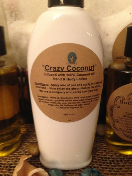 """""""Crazy Coconut"""" Coconut Oil infused Hand and Body Lotion 6oz"""