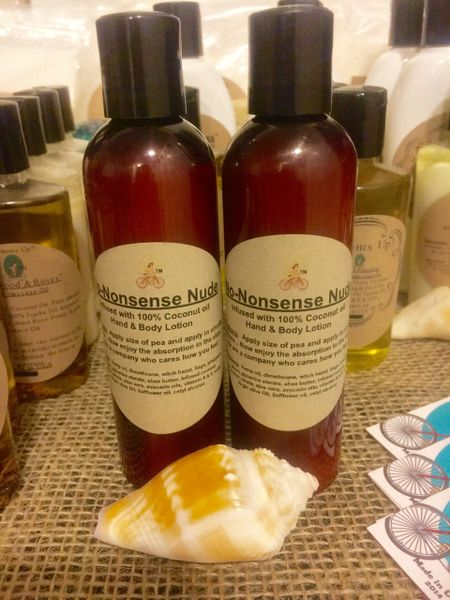 """""""No-Nonsense Nude"""" Coconut Oil infused Hand and Body Lotion 4oz"""