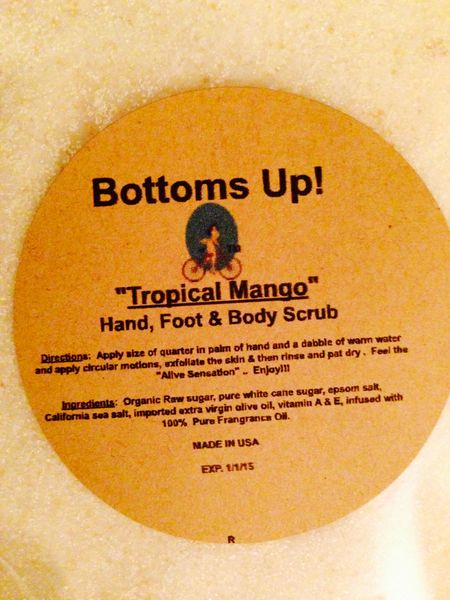 """Tropical Mango"" Pure Oil infused Hand Foot & Body Scrub 8 oz"