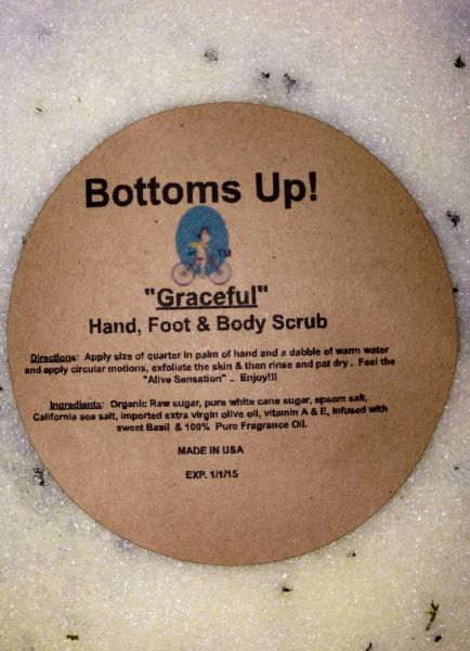"""""""Graceful"""" All Natural Oil Infused Hand Foot & Body Scrub 8 oz"""