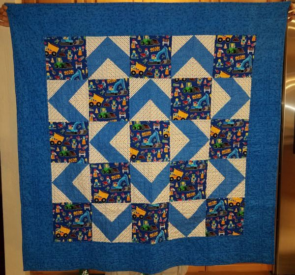 Quilt with Brick Builder Motif