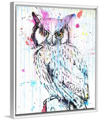 """OWL in POP"" Original or Framed Canvas Print"
