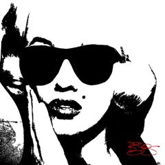 """""""Marilyn Hipster"""" Canvas Print or Original"""