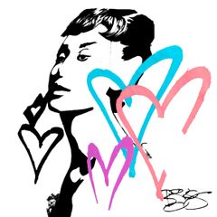 """Audrey Hepburn"" Canvas Print or Original"