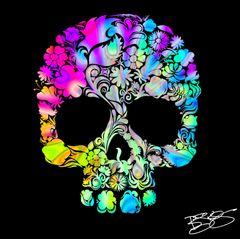 """Skull Beauty"" Canvas Print or Original"