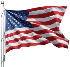 USA 10ft x 15ft Sewn Nylon Flags