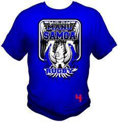 T-Shirt: Manu Samoa Eagle by One Tribe Graffix