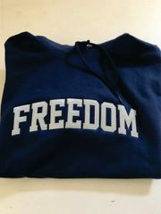 Navy Freedom Sweatshirt with Tackle Twill embroidery