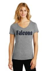 WOMENS VNECK TEE WITH GLITTER FALCONS