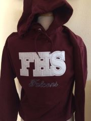 FHS Maroon and Rhinestone Sweatshirt
