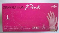 Generation Pink Powder- Free Synthetic Exam Gloves