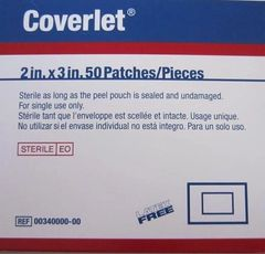 "Coverlet Adhesive Dressing 2"" x 3"""
