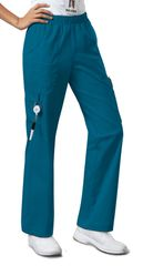4005Petiite - Cherokee Mid Rise Pull-On Pant Cargo Pant