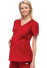 2892 - Maternity Mock Wrap Knit Panel Top