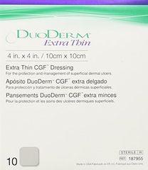 "ConvaTec DuoDERM® CGF® Extra Thin Dressing, 4"" x 4"""