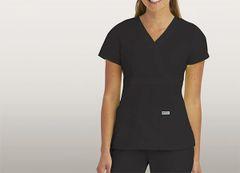 4153 - Grey's Anatomy - Mock Wrap Top