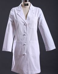 6119 - Ladies Knee Length Lab Coat