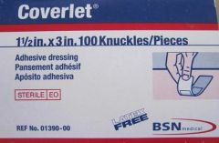"Coverlet Adhesive Dressing 1(1/2)"" x 3"""