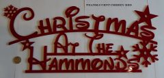 "Personalized ""Christmas at the..."" Family Sign (Large)"