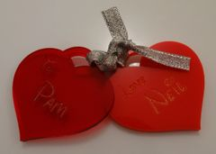 Personalized Love Heart Gift Tags (4 Pack)