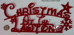 """Personalized """"Christmas at the..."""" Family Sign (Small)"""