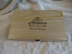 PERSONALISED CHRISTMAS WINE BOX (DOUBLE)