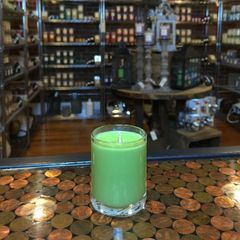 Apple Bourbon & Mint 2.5oz Soy Candle in Glass