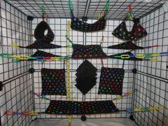 15 pc Bedding - Sugar Glider Cage Set - Rat - Rainbow Paw