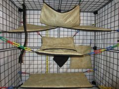 12 Pc - Marble Tan - Sugar Glider Oversized Cage Set