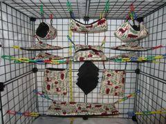 15 pc Bedding - Sugar Glider Cage Set - Rat - Plaid Woodsman