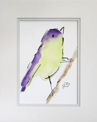 Watercolor Bird #439