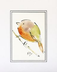 Watercolor Bird #507