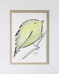 Watercolor Bird #447