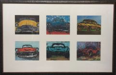 Antique Car Print Collage