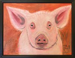 Pig on Orange