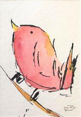 Watercolor Bird #524