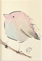 Watercolor Bird #522