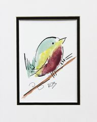 Watercolor Bird #510