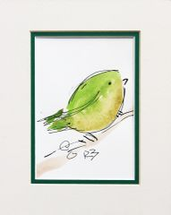 Watercolor Bird #508