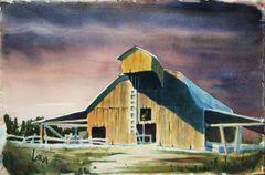 Barn Under a Stormy Sky