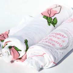 Louisiana Girls Swaddle Blankets