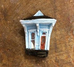 Single Shotgun New Orleans House Wall Hanging