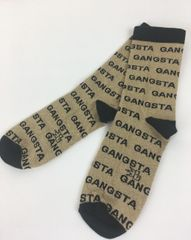 Black and Gold Gangsta Socks