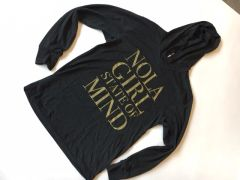 Black and Gold NOLA Girl Hoodie