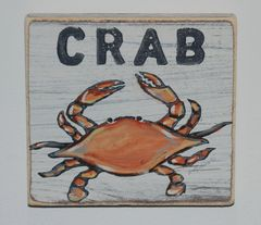 Crab Wooden Wall Art