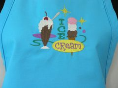 Retro Ice Cream Parlor Apron